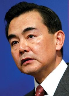 CHINA: Wang Yi.  Foreign Minister since Mar 16, 2013.  In December 1977, Wang enrolled in the department of Asian and African Languages of Beijing International Studies University (BISU). He studied the Japanese language at the institution, graduating in February 1982 with a Bachelor's degree. Wang made a historic trip to the Middle East in December 2013 to visit Israel and the Palestinian National Authority.