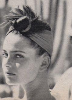 Paulina Porizkova photographed by Arthur Elgort for Mademoiselle, May 1984