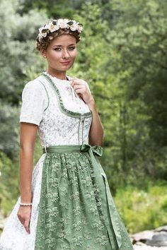 Alpenfee Dirndl Folk Fashion, Womens Fashion, Dirndl Dress, Fairy Clothes, Lace Skirt, Wedding Hairstyles, Beautiful People, Flower Girl Dresses, Costumes