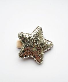 """Glitter Silver Star Hair Clip Taupe Velvet ribbon 2"""" Star approx.  Miss Mane ribbon clips are comfortable, stylish and practical!Perfect for sweeping that fringe out of the way or taming wispy hair on the front, back and sides :) Our lead free ribbon clips come complete with our unique no slip grip - Excellent for fine hair. ♥ Our high quality hair clips are 1.75"""" long + Lined with Oeko -Tex Ribbon ♥ Easily slide on with one hand ♥ Your new hair clips will arrive on a display card Toddler Hair Clips, Baby Hair Clips, Wispy Hair, Star Hair, Velvet Hair, Hair Slide, Velvet Ribbon, Silver Stars, Fine Hair"""
