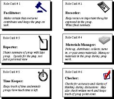 roles for group work in middle school - Google Search