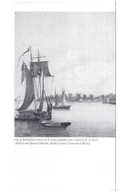 City of Apalachicola, 1837, probably from a sketch by H. A. Norris.