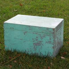 Turquoise Wood Trunk  #forevervintagerentals