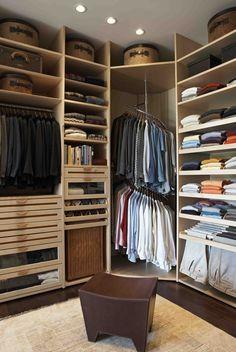 Corner revolving shirt unit  Robs closet
