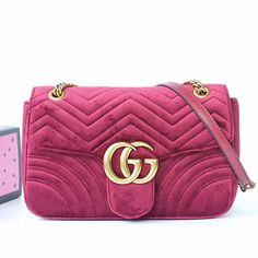 e59cac1e3a07 GG Marmont Velvet Shoulder Bag Pink 443496