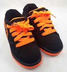 f5c88a9c2109 Heelys Propel 2.0 Black Orange Skate Shoes Size 2 Youth 770506 Wheel  Sneakers  Heelys  Athletic