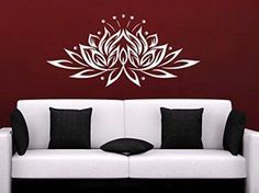 Create a relaxing refuge in your home with lotus flower wall art. You can use lotus flower wall decor in any room of your home but especially bedrooms, living rooms and bathrooms.  Although I love it in my office.  You can find cute lotus flower clocks, lotus flower wall tapestries, lotus flower wall decals, lotus flower wall murals that loook cute.  Wall Decal Vinyl Sticker Decals Mandala Namaste Lotus Flower Indian Lotus Yoga Wall Stickers