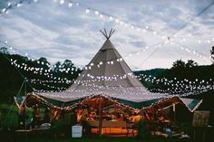 That magic twinkle. Tipi Wedding Receptions, Rustic Wedding Venues, Tent Wedding, Magical Wedding, Free Wedding, Wedding Vendors, Wedding Fun, Wedding Ideas, Event Tent Rental