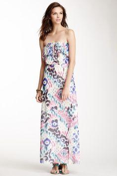 Strapless Ruffled Maxi Dress by Sweet Pea on @HauteLook