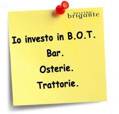Io investo in BOT!! Ristorante Napoli La Taverna Del Brigante www.latavernadelbrigantenapoli.it