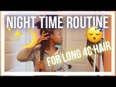 My natural hair night time routine for long 4c natural hair - I use a braid out to stretch my type 4 natural hair. I do this every night that I wish to wear ...