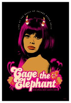Scrojo Cage the Elephant Poster
