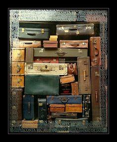 Carlos: escaparate de una tienda de maletas que ocupa todo el cristal como una especie de tetris muy ingenioso que hara que el cliente pare al verlo.