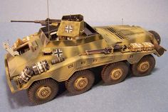 Posted Image Armored Car, Armored Vehicles, Model Tanks, Military Figures, Panzer, World War Two, Warfare, Scale Models, Military Vehicles