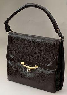 Chamelle Vintage Brown Faux Leather Handbag Shoulder Bag Fabric Lining. Cute Handbags, Satchel Handbags, Vintage Bags, Vintage Handbags, Leather Purses, Leather Handbags, Shoulder Handbags, Shoulder Bag, Spring Purses
