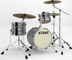 Tama Silverstar Drums: Titanium Silver Metallic.