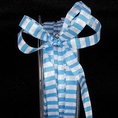 """Classic Baby Blue and White Striped Capri Decorative Wired Craft Ribbon 3/8"""" x 110 Yards *** Be sure to check out this awesome product."""