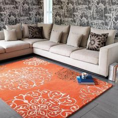 Colour Washed & Inspired by traditional Moroccan Motifs, this Fresco Red Rug is made using a blend of pure new wool and cotton yarn. This unique blend offers soft to touch, shiny appearance and durability features to the rug. Living Room Plan, Floor Art, Braided Rugs, Hand Tufted Rugs, Traditional Rugs, Red Rugs, Bold Colors, Trendy Colors, Modern Rugs
