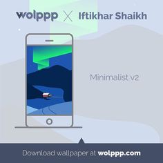 Aurora on the night sky is mesmerizing so do this great minimalist artwork by Iftikhar Shaikh. It's part of his minimalist series artwork. This wallpaper artwork is now available for iPhone and Android on wolppp.com. Go get it now! :) .. Use #wolppp and tag us to get featured and get invited to showcase your wallpaper art at wolppp.com ..... #wolppp #vector #illustration #art #design #graphicdesign #illuspiration #inspiration #designer #drawing #iphone #android #wallpaper #instagood…