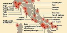 Tra le righe...: Ministero della Salute: Le 44 aree d'Italia più inquinate e a rischio tumori