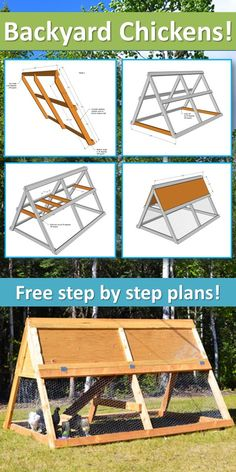 Ana White Build a A Frame Chicken Coop Free and Easy DIY Project and Furniture Plans A Frame Chicken Coop, Chicken Barn, Easy Chicken Coop, Portable Chicken Coop, Chicken Coup, Backyard Chicken Coops, Building A Chicken Coop, Chickens Backyard, Small Chicken Coops
