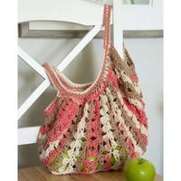 Nectarine Market Bag - free crochet pattern by Rae Blackledge for Willow Yarns.