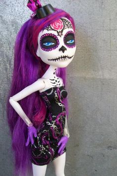 Monster High Spectra Day of the Dead Custom by AdeCiroDesigns