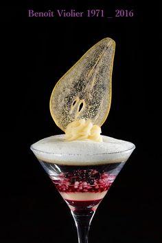 Chef Benoit Violier, Restaurant De L'Hotel De Ville Crissier-Suisse. Cocktail de poire Williams du Valais parfumée à l'Absinthe du Val de Travers… [image]
