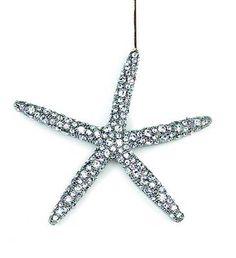 Swarovski Rhinestone Metal Starfish Ornament  (Keep clicking on images to see more beautiful ornaments!)
