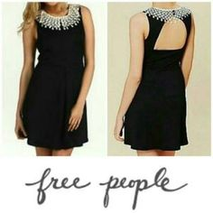 Free People Cocktail Dress With Lace Neck
