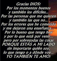 Thank u God Wisdom Quotes, Bible Quotes, Spanish Prayers, Faith In Love, God Prayer, Morning Prayers, Good Morning Good Night, God Jesus, Religious Quotes