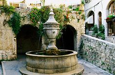 Saint-Paul de Vence, France (fountain). Have a picture by this somewhere.