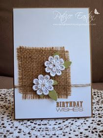 Fabric Cards, Paper Cards, Burlap Card, Birthday Cards For Women, Cricut Cards, Creative Cards, Flower Cards, Greeting Cards Handmade, Scrapbook Cards