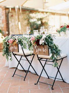 Wedding Chair Decor | Bridal Musings Wedding Blog