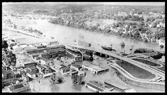 Derby-1955 Flood, Route 8 and Main Street