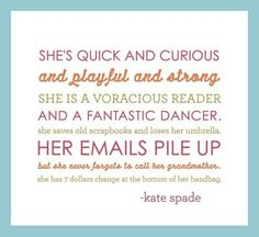 Kate Spade, Quote <3