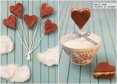 Corazones de bizcocho de queso y brownie rojo para San Valentín. Fotografías con el paso a paso del proceso de elaboración. Sugerencia de presentación