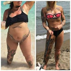 """Are you trying to make a transformation? Whats working for you? @jessiegfitness """"5 years ago I topped the scale at 270lbs at 5 foot 6 inches and was struggling with the image I saw in the mirror. As scary as it was I needed to start making some changes o"""