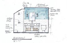 bathroom interior design sketches. See Why This 2nd Floor Bathroom Will Be Worth Taking The Stairs For. PlansZen BathroomInterior Design SketchesUpstairs Interior Sketches