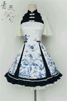 --> Pre-order: Qinghe ~Phoenix and Flower~ Qi Lolita JSK --> Pre-order Pri. Kawaii Fashion, Lolita Fashion, Cute Fashion, Rock Fashion, Emo Fashion, Fashion Boots, Dress For You, The Dress, Pretty Outfits