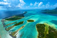 Amazing views in every direction when you're in a helicopter above Bora Bora!  Here's a post with some more photos from the helicopter tour.  http://davidkosmos.tumblr.com/post/50499703736/borabora-aerial