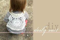 diy toddler lace vest