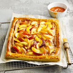 This recipe can be made with any stone fruit. We think juicy summer peaches work wonders with the marzipan.
