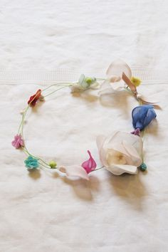 From Makie in NYC - pretty crown or necklace for flower girl, made in France