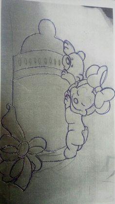 Minnie sobre mamadeira