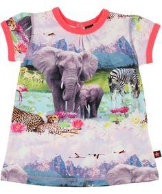Molo Prachtige baby jurk met Zomerse Safari print. molo.nl.emilea.be