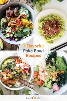 A poke bowl is essentially a Hawaiian build-your-own sushi bowl that often include raw Ahi tuna, rice, pineapple, seaweed and sesame seeds. via @dailyburn
