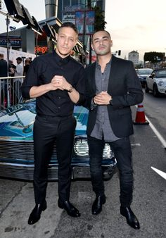Theo Rossi and Gabriel Chavarria at Lowriders (2016)