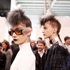 Furry Sunglasses at Fendi Fall 2013- NYTimes.com