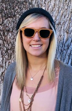 Thrive holiday sale, $45 and free shipping! Our handcrafted wood sunglasses have UV 400 polarized lenses and float on water! We even plant a tree for every sale!